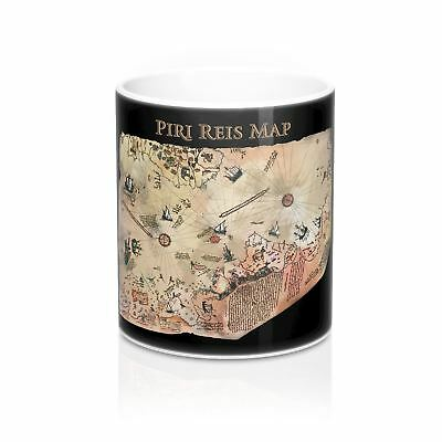 Piri Reis Map - Black - Mug 11oz