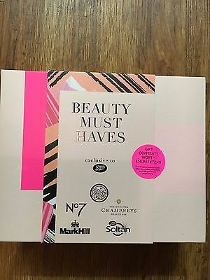 Boots  Beauty Must Haves Gift Box /. 6 Items inc No 7 eye serum and lipstick