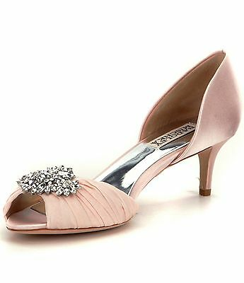 "Badgley Mischka ""Caitlin"" MP3272 Pink Bridal Shoes, Women's Size 9"