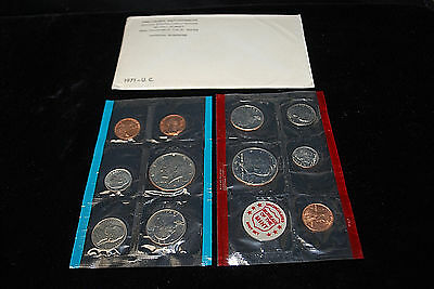 1971 US Mint Uncirculated Coin Set: 11 Coins, Orig. Wrappers & Envelope  S7720