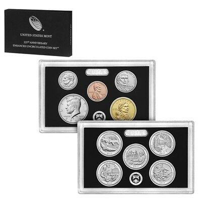 2017-S US Mint 225th Anniversary Enhanced Uncirculated 10-Coin Set (W/Box And CO