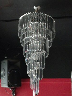 Midcentury Lucite 5 Tier Chandelier  Only 1 left!!!