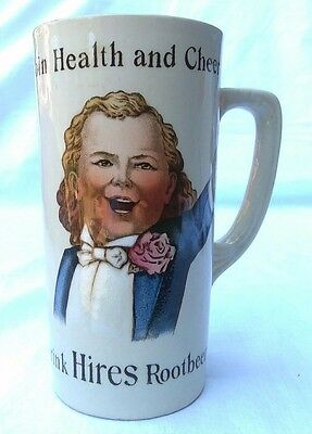 Antique Join Health and Cheer Hires Rootbeer Mug by Villeroy & Boch, Mettlach