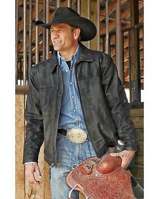 STS Ranchwear Men's Rifleman Leather Jacket - STS5472