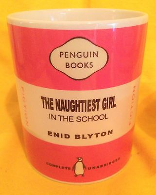 Penguin Book Cover-Enid Blyton Set Of Three 'naughtiest Girl'-On A  Mug.