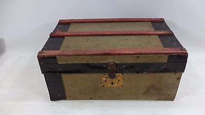 Vintage Salesman Sample Steamer Trunk Suitcase Furniture Luggage Miniature Case