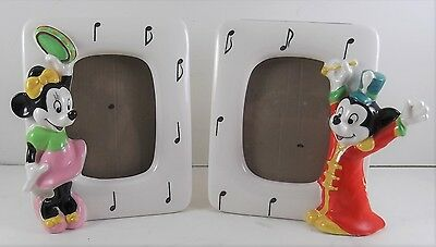Vintage Walt Disney Mickey And Mini Mouse Musical Picture Frames By Schmid
