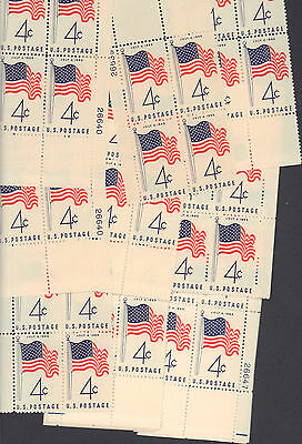 {BJ Stamps}  #1153    50-Star Flag.   25 Plate blocks MNH  4 cents stamps.  1960
