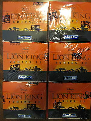 Factory Sealed 6 Box Lot - 1994 SkyBox Disney's Lion King Series 2 Trading Cards