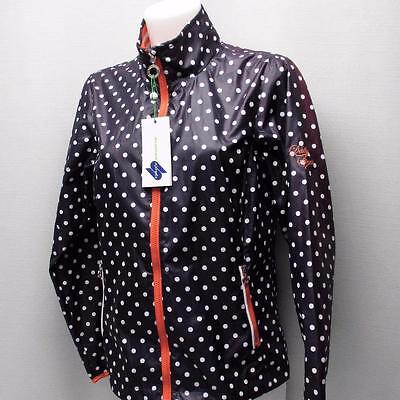 New Ladies SMALL Daily Sports Polyester long sleeve polka dot golf jacket