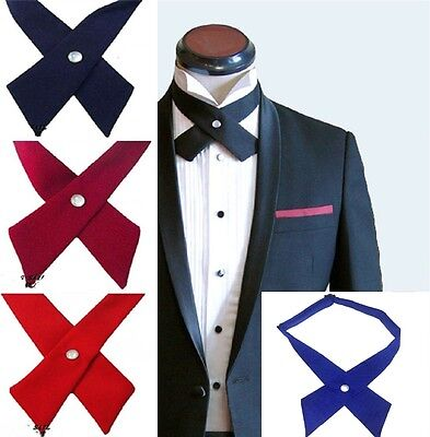 Unisex Cross Bowtie Mens Necktie Cravat bow Pre tie Adjustable bow tie UK
