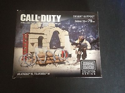 CALL OF DUTY MEGA BLOKS - DESERT OUTPOST 06846 - NEW & SEALED - 79 pieces