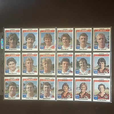 1980 Scanlens Rugby League Cards Full Set