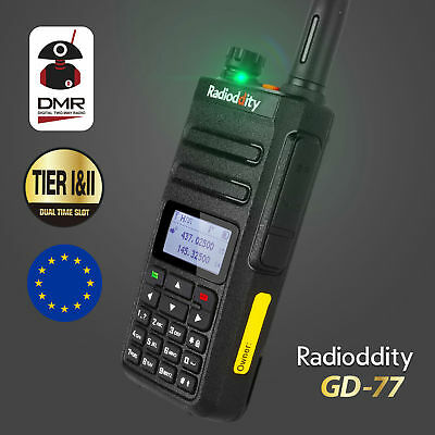 Radioddity GD-77 Dual Band Tier II V/UHF DMR 1024CH Two way Digital Talky Walky
