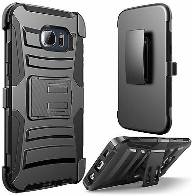 For Samsung galaxy S7 Edge Rubber case Hard& Soft  Armor Impact Defender Cover