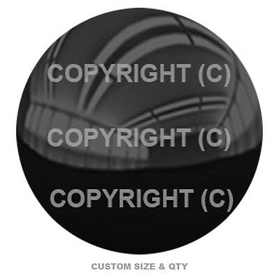 Premium Glossy Round 3D Epoxy Domed Decal Indoor Outdoor Gloss Black Solid S-200