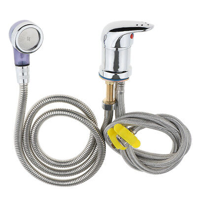 Hot Cold Faucet and Spray Hose for Beauty Salon Shampoo Bowl Parts Kit 80cm