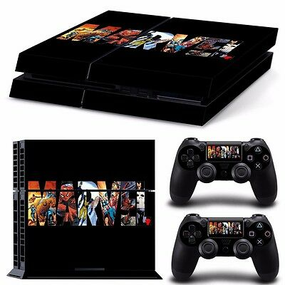 PS4 playstation console controller skin set    MARVEL COMICS  Aussie seller