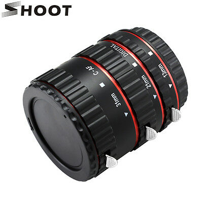 Pro Auto Focus Macro Extension Tube Adapter Ring Sets for Canon DSLR EF EOS EF-S