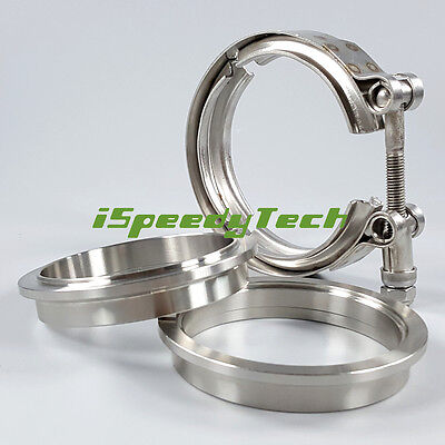 """2.5"""" Inch 64mm V Band Clamp Flange male famale SS304 Stainless Steel"""