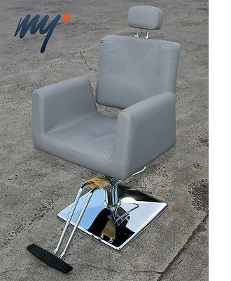 Salon Professional Threading Chair Reclining Chair Removable Head Rest GREY