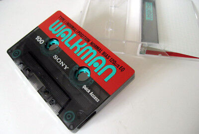 SONY Vintage Collector Audio Cassette Tape WALKMAN 100 Type I Normal Position