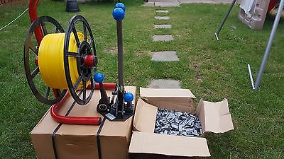 Heavy Duty large Combination trapping too + two reels of strapping + clamps