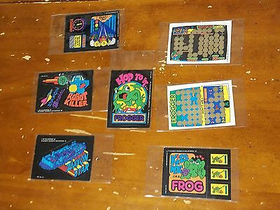 8 vintage video game Sticker /card FROGGER Zaxxon TURBO DONKEY KONG Dragons Lair