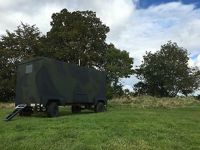 British Military Brockhouse Trailer Break Camouflage Army Trailer Glamping