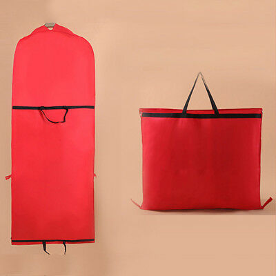 Red  180cm Non-woven Long Garment Dresses Wedding Storage Bag Dust-proof Pouch