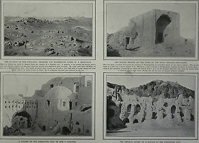 Koh-I-kouadja Persia Forgotten Dead City Discovered 1908 2 Page Photo Article