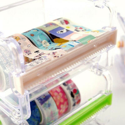 PVC Tape Dispenser Washi Tape Cutter Tape Holder Storage Organizer Case Quality