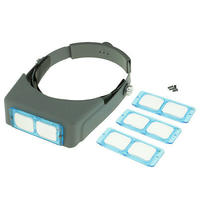 1x Headband Head Jeweler Reading Magnifier Magnifying Glass Loupe and 4 Lens