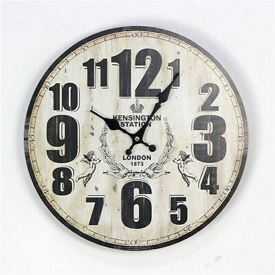 Vintage Home Decor Wall Clock Made From Wood Perfect for Living Room And Bedroom