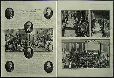 Lancashire & Liverpool Cotton Industry Exchange Broker 1908 4 Page Photo Article
