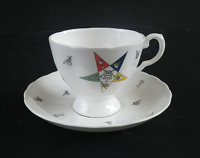 Order Of The Eastern Star Tuscan Cup & Saucer