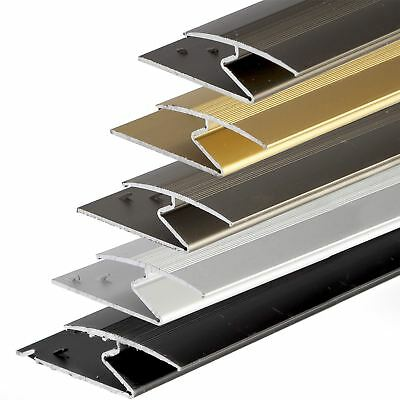 ANODISED ALUMINIUM Z EDGE Carpet Profile DOOR FLOOR BAR TRIM 1000mm x 35mm C69