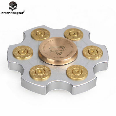 Emerson Fidget Spinner 7cm Solid Aluminum Finger Gyroscope Spinning Top 8075