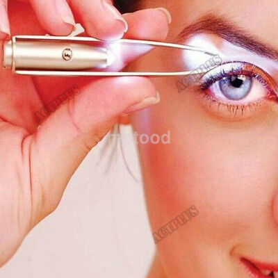 Eyelash Eyebrow Hair Removal Tweezer Remover Creative Makeup Tool With LED Light
