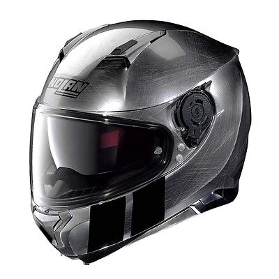 Nolan N87 Martz N-Com Scratched Chrome Motorcycle Full Face Helmet All Sizes