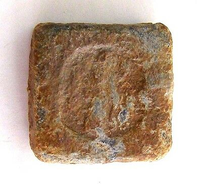 ANCIENT ROMAN BYZANTINE BRONZE WEIGHT image Emperor! #AR52-59