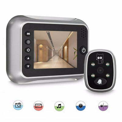 3.5inch LCD Peephole Viewer Doorbell Home Security Monitor IR Camera Night Visio
