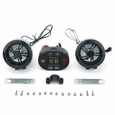 12V Waterproof MP3 USB Radio Motorcycle Stereo Sound System with Bluetooth Funct