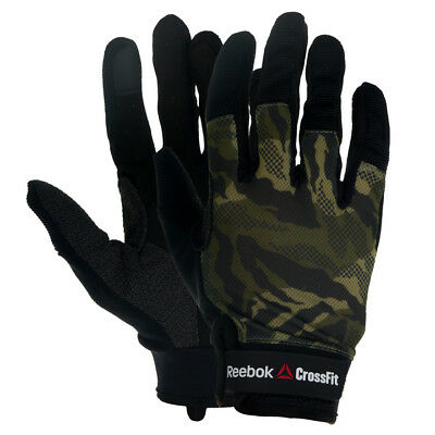 Reebok CrossFit Mens Traning Gloves for Gym Workout Camo KEVLAR inserts