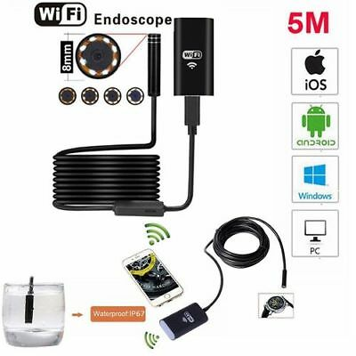 Waterproof IP67 Endoscope Borescope WIFI Spy Inspection Camera for Android IOS