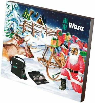 Wera 135998 Kraftform Advent Calendar 2017 Set 34 Piece Tool Kit (Socket Set)