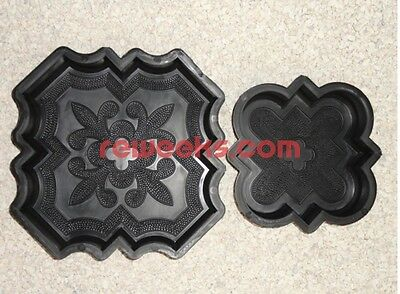 Plastic Molds Casting Concrete Paving Garden Paths Pavement Stone Patio