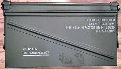 U.S. Military AMMO CAN PA-120 40mm Grenade US Military/UN Can Used Once
