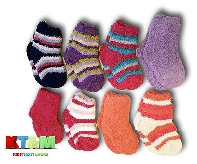 Baby Girl Toddler Soft Cosy Fluffy Warm Winter Socks, Size 12 Months to 3 Years