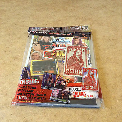WW SLAM ATTAX 10th EDITION TRADING CARD STARTER PACK RANDY ORTON & ROMAN CARDS